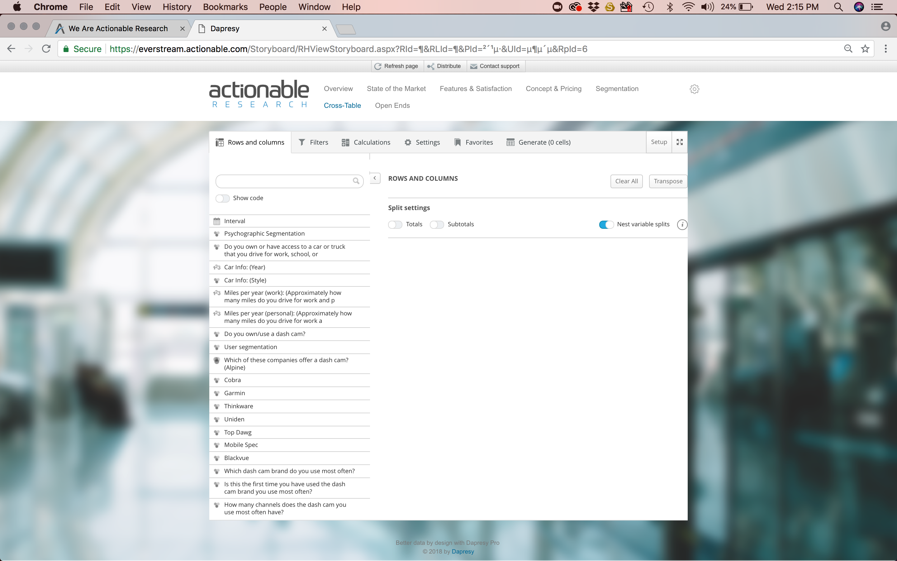 Actionable Research EverStream Reporter